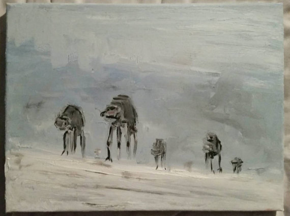 Star Wars AT-AT's on Hoth Oil Painting