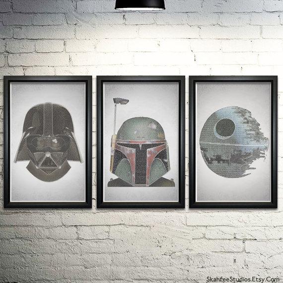 Star Wars Artwork Typography Art Prints Star Wars Gift