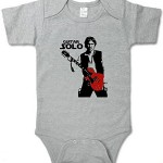 Star Wars Han Solo Guitar Solo baby bodysuit