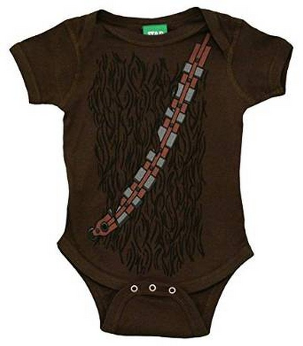 760e410a8 Star Wars Infant Baby Romper Bodysuit. Have your child dress like Chewbacca  and maybe he will start sounding like one as well. This model comes in  sizes ...