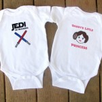Star Wars Luke and Leia Baby twin bodysuit set