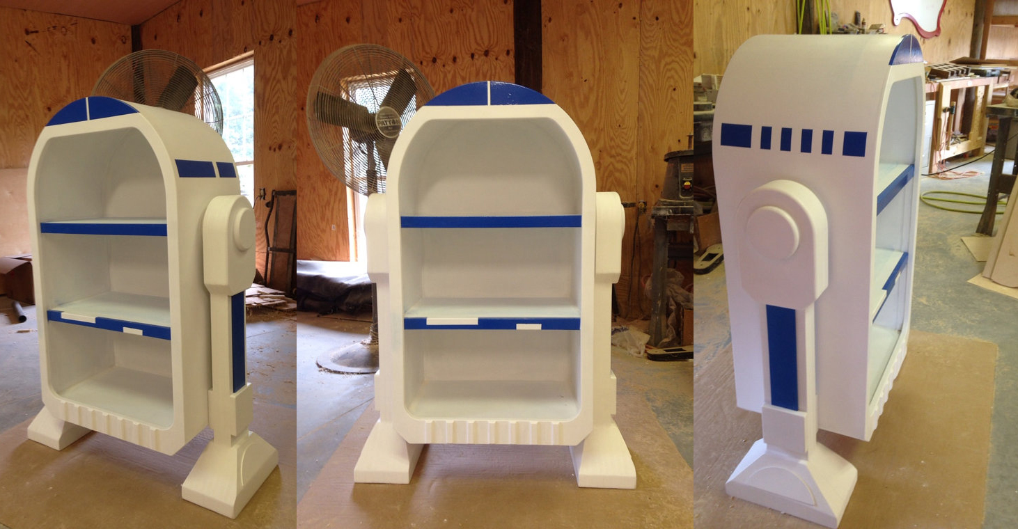 Star Wars, R2D2, Droid styled bookshelf, storage unit