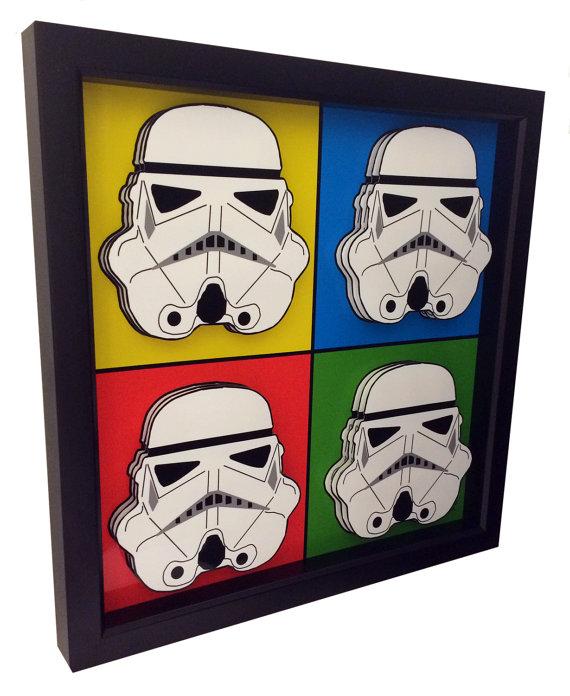 Stormtrooper Helmet Star Wars Poster 3D Pop Art Print Artwork