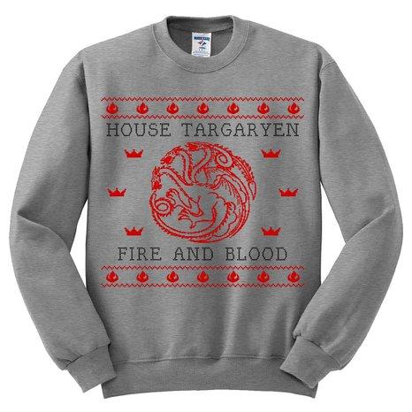 Ugly Christmas Sweater House Targaryen