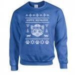 Ugly Hanukcat Holiday Sweater