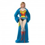 Wonder Woman Adult Comfy Throw with Sleeves