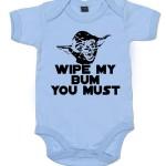 Yoda Funny Bodysuit Wipe My Bum You Must