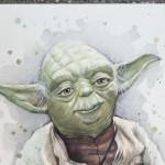 Yoda Watercolor Painting ORIGINAL