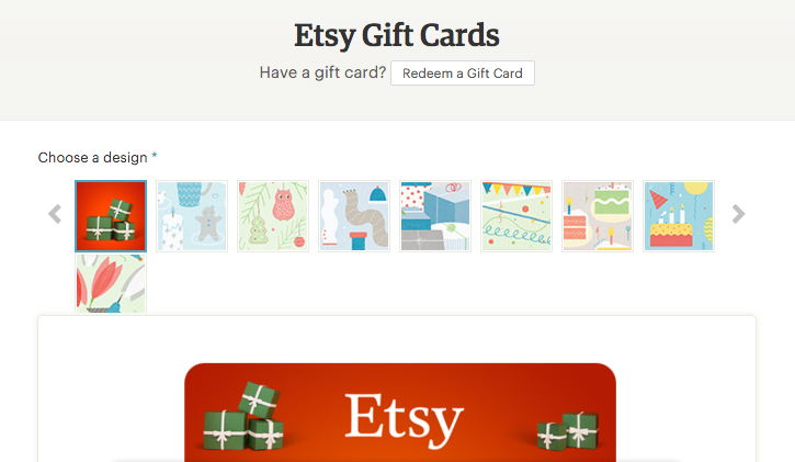 best Etsy Gift Cards