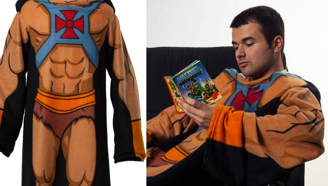 funny He-Man Cozy fleece blankets
