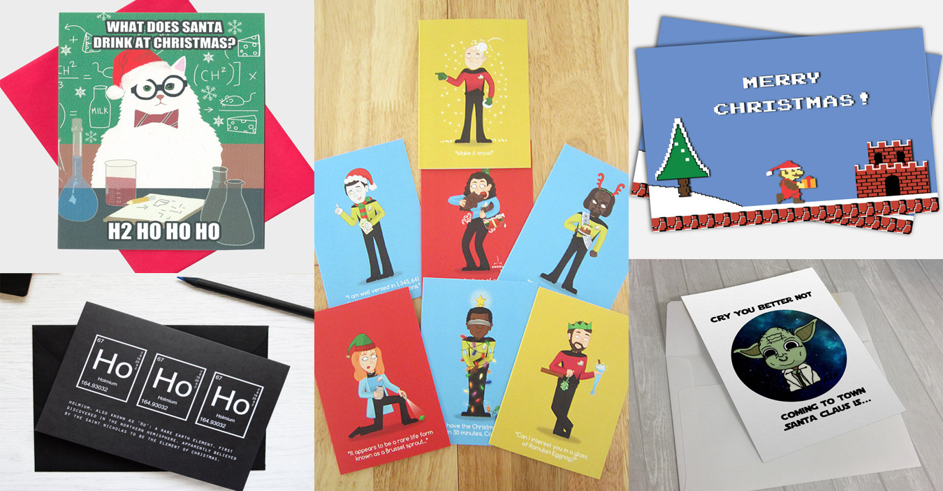 15 Geek Inspired Greeting Cards for The Holidays - Walyou