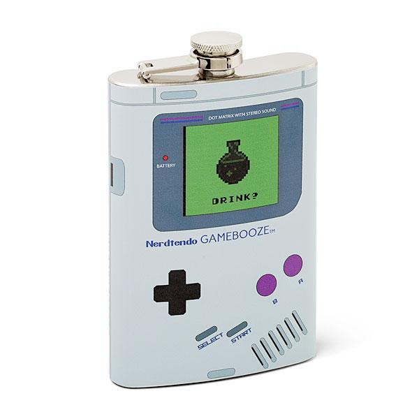gifts for gamers under 20 bucks Nerdtendo Gamebooze 8oz Flask