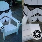 star wars storm trooper chair,Adirondack chair, Yard furniture, big man sized, sturdy,Death star, themed chair, custom beach chair…..
