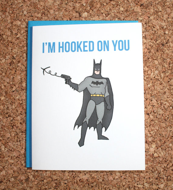 Batman Card nerdy Valentine's Day card