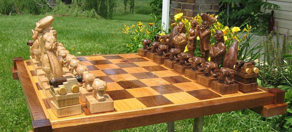 Chess Set Jolly Roger Band Ch