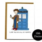 Doctor Who card, funny Valentine card