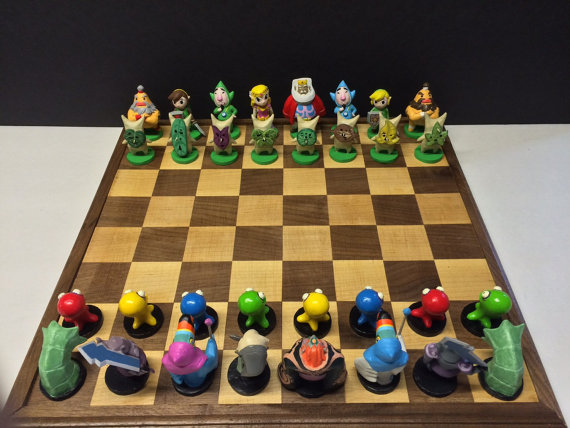 Legend of Zelda Windwaker-inspired Chess Set
