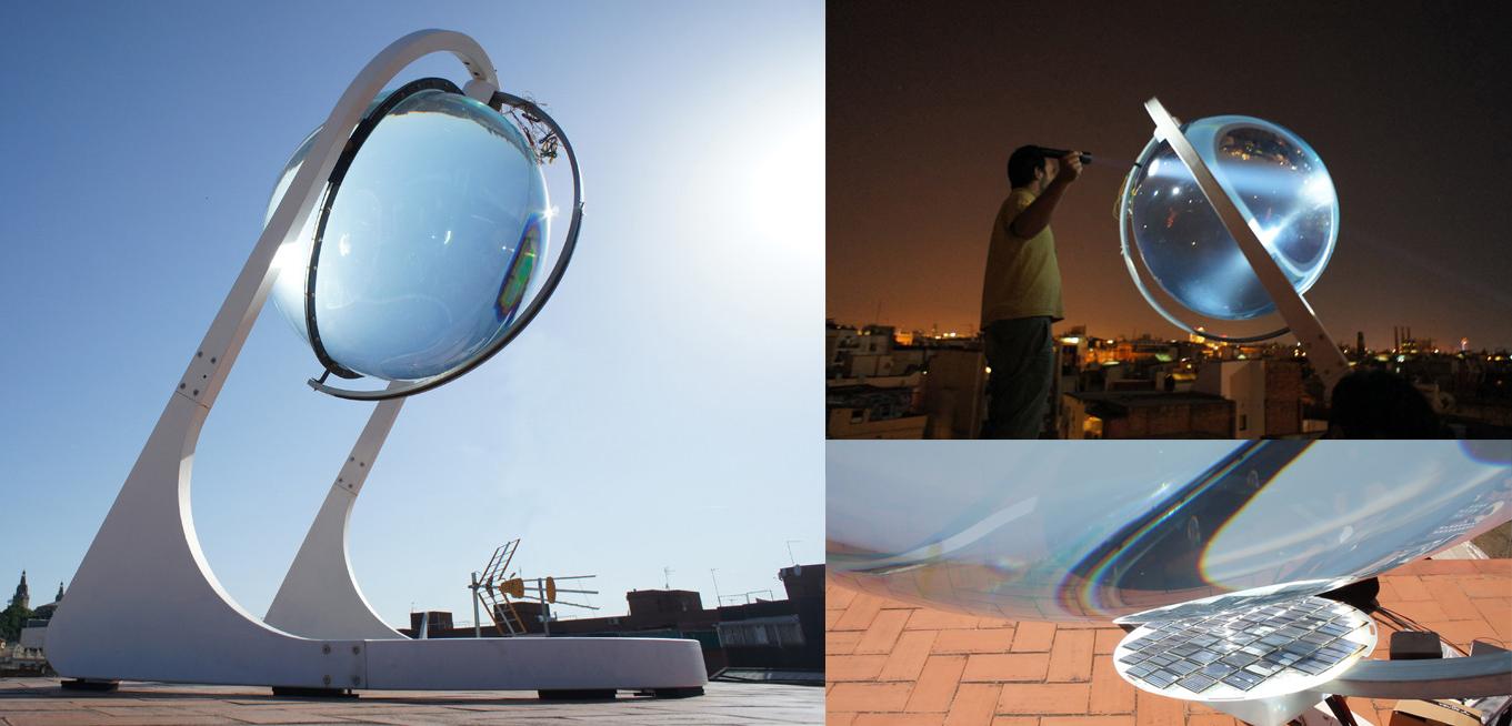 Spherical transparent Sun power Generator