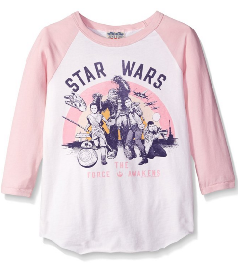 Star Wars Pink Long Sleeve Girls Shirt