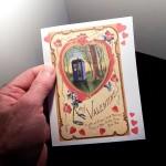 Tardis at Sunset Victorian Style Valentine Card