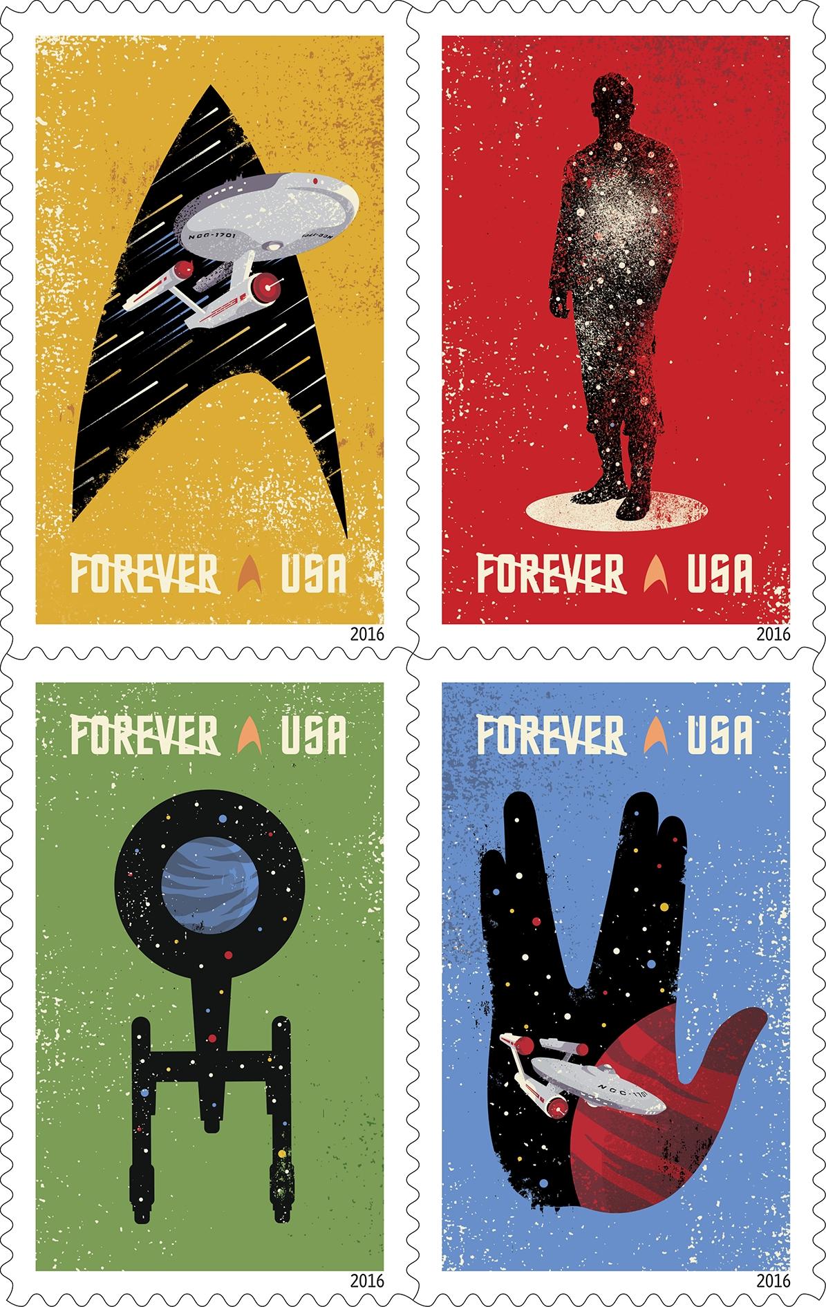 U.S. Post Office to Release 'Star Trek' Stamps