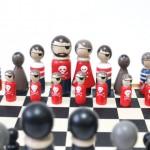 cool Chess Set Wooden Chess Set Pirates vs. Ninjas