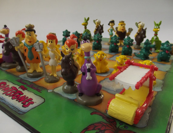 cool Flintstones 3D chess set