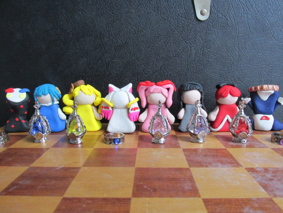 cool Madoka Magica Chess Set