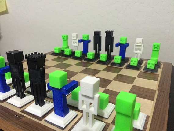 cool Minecraft Chess Set