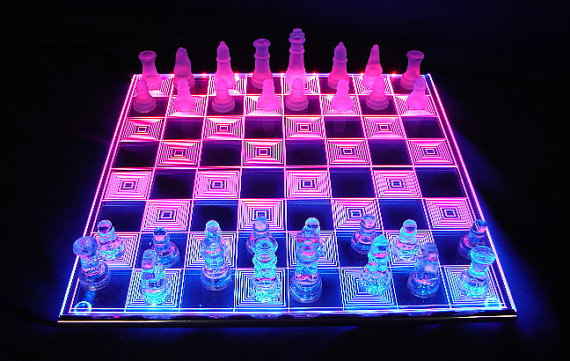 cool PHOTON CHESS - LED Glowing Chessboard