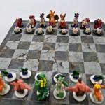 cool Pokemon chess set (Fire VS Grass)