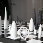 cool Skyline Chess Set