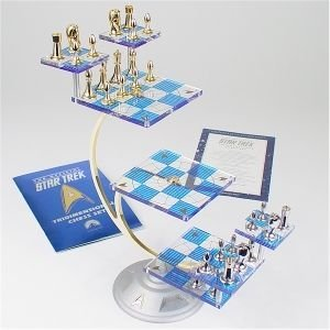cool Star Trek Tri-Dimensional Chess Set by the Franklin Mint