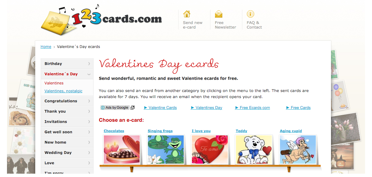 free Valentine's Day 123cards ecards copy