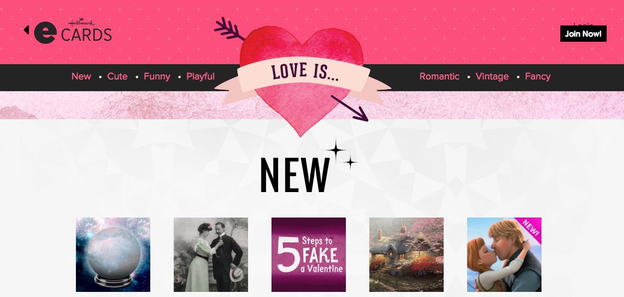 free Valentine's Day hallmark ecards