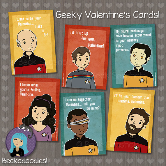 geeky Star Trek Valentine's Day Card
