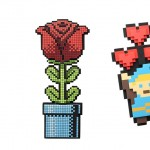 geeky funny Valentines Day gift idea 8-bit Bouquet