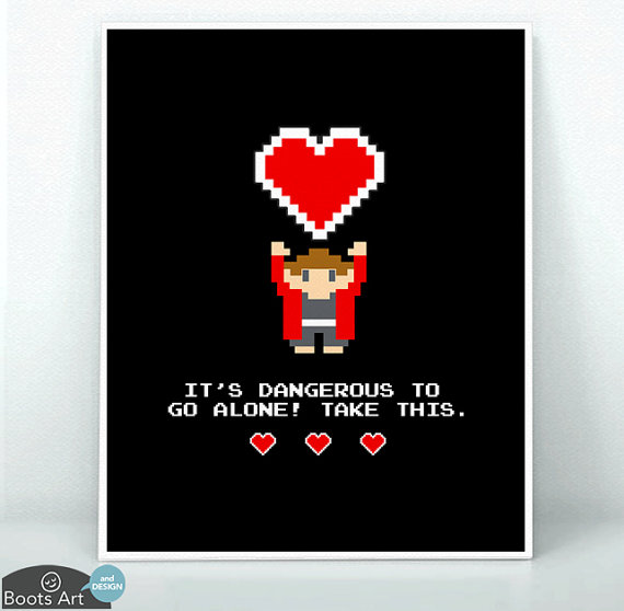 geeky zelda valentine's day card
