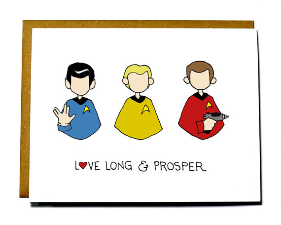 nerdy Valentine's Day card Star Trek card