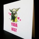 nerdy Valentine's Day card Yoda. Star Wars Card