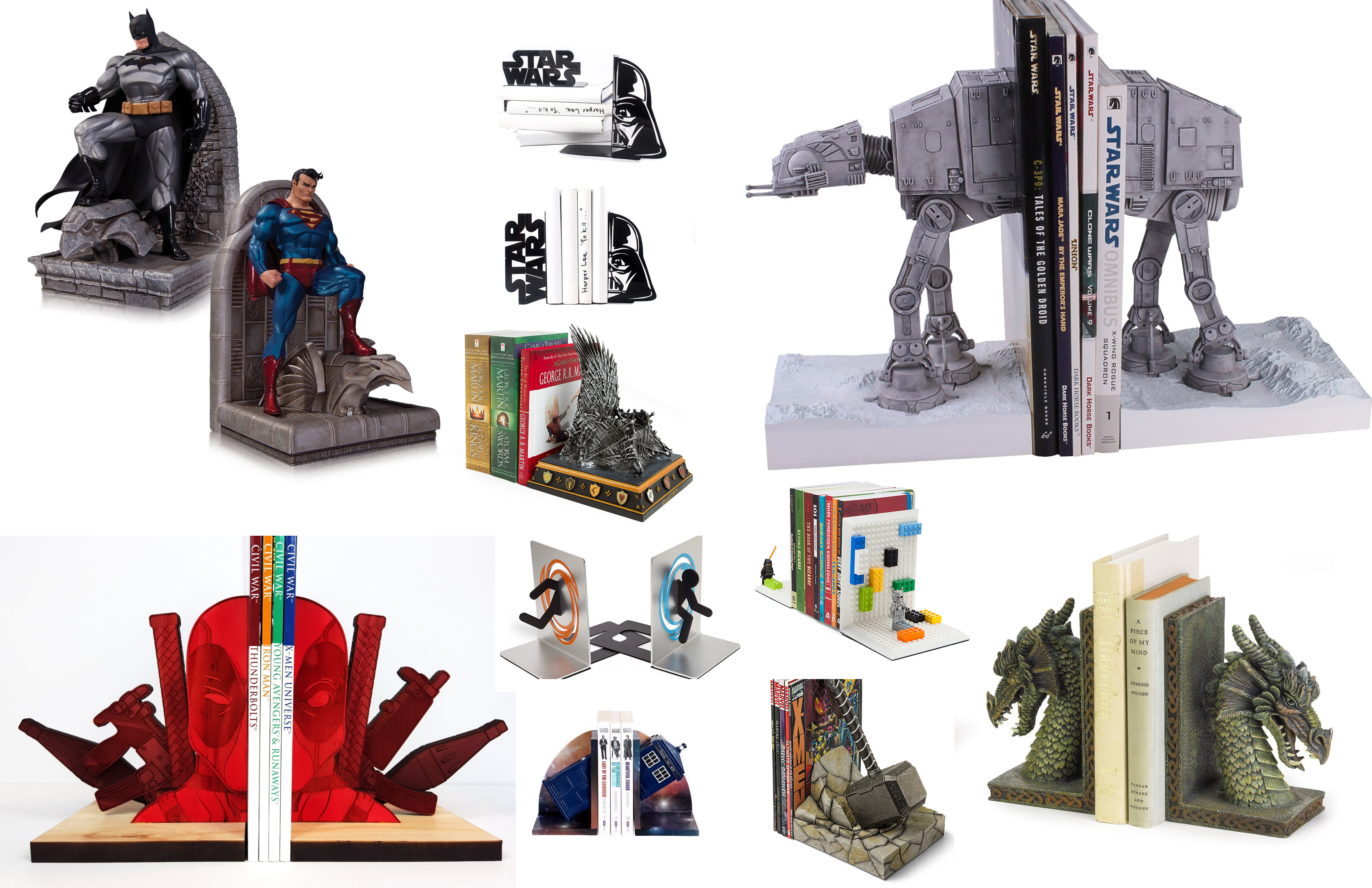 stunning Cool Book Ends Part - 7: 17 Cool Bookends For Your Inner Geek - Walyou