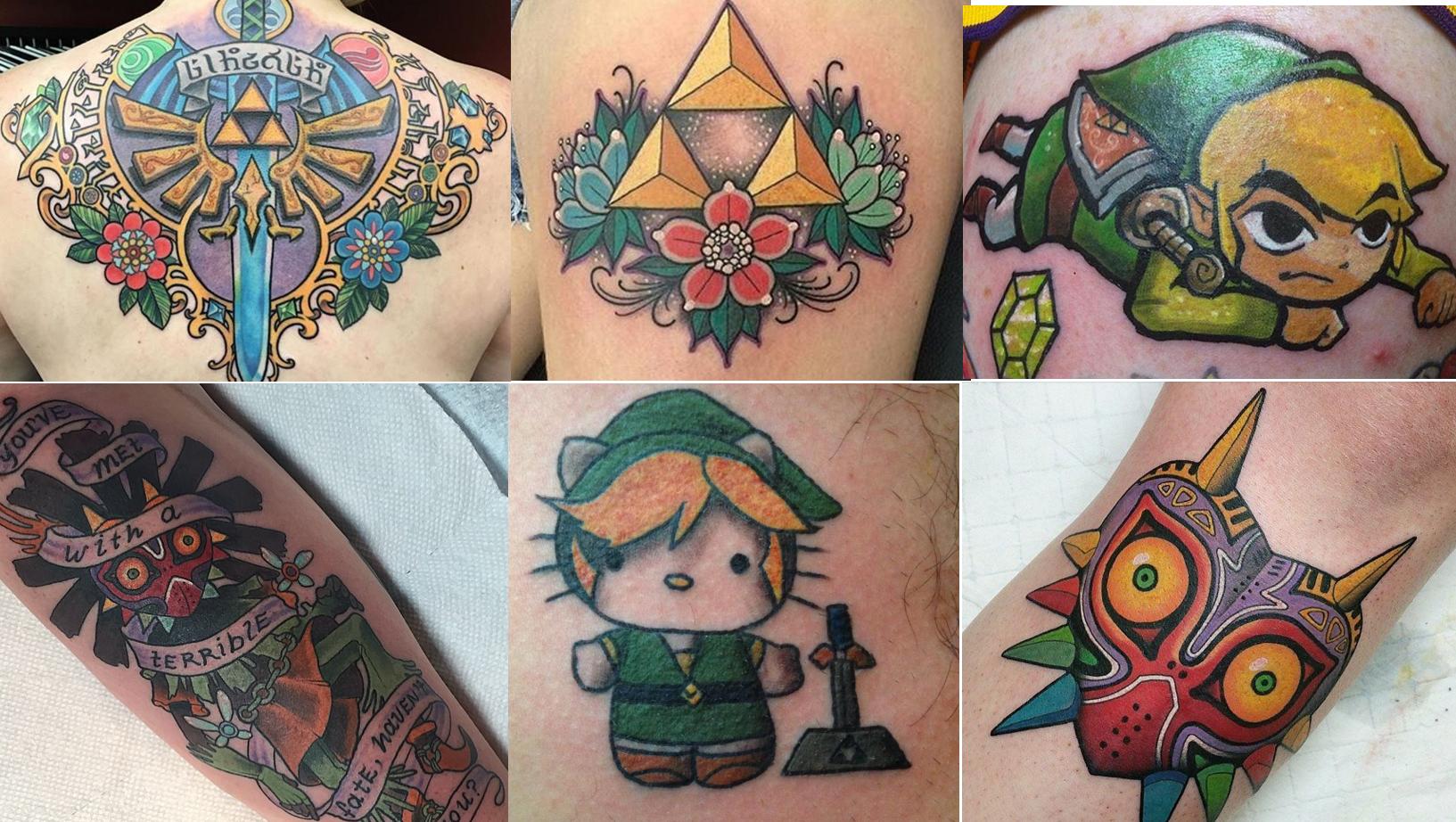 Legend of Zelda Tattoos  30th anniversary