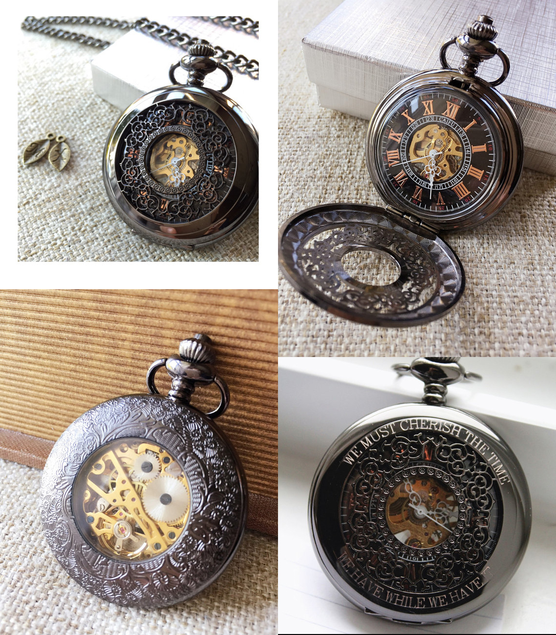 Personalized steampunk watch