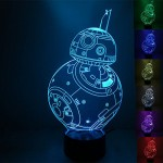 Star Wars BB8 3D lamp