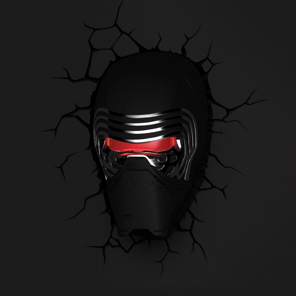 Star Wars Kylo Ren 3D LED Wall Light