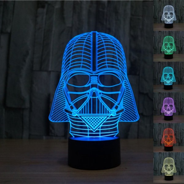 Star Wars Lamp Darth Vader 3D