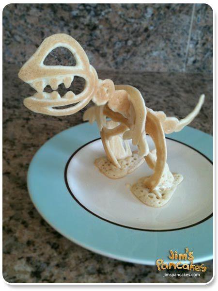 geeky 3D Dinosaur Pancakes