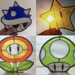 geeky Super Mario themed Stained Glass creations.
