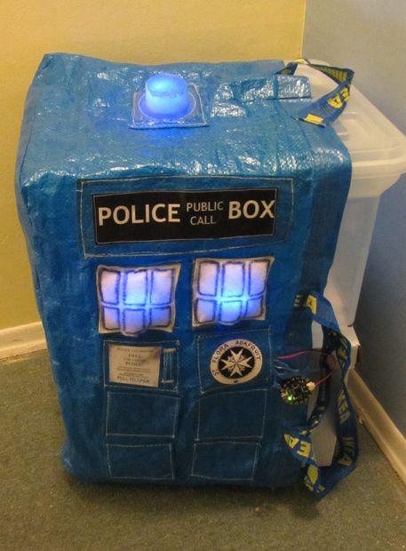 geeky ikea hack TARDIS IKEA SHOPPING BAG