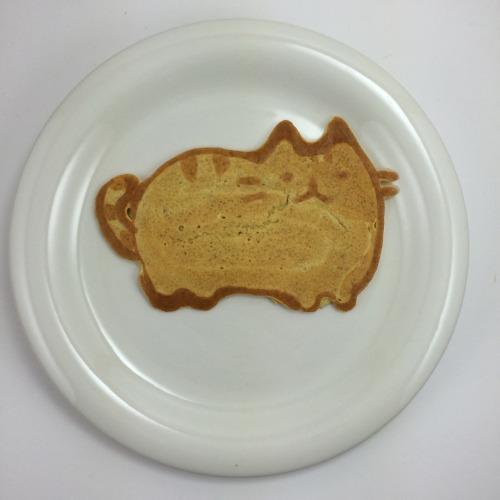 geeky pancake Pusheen the cat